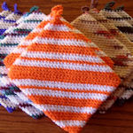 Knitting Pattern For A Pot Holder : Pins and Needles: Knitting, Crocheting and Weaving