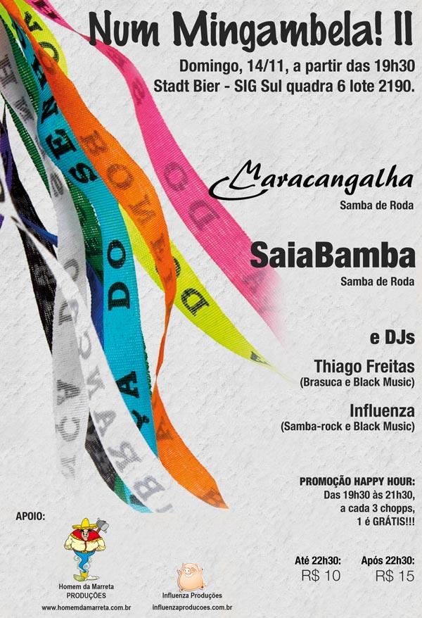 Num Mingambela! II - O melhor do Samba (14/11), na Stadt Bier
