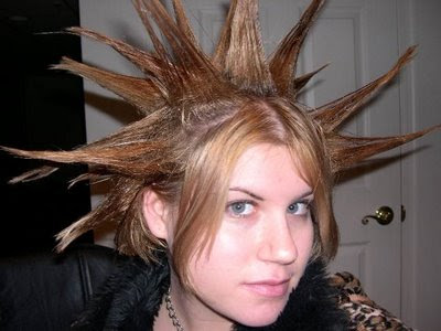 funny hairstyle. Funny punk Hairstyle