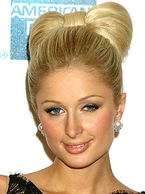 A classic bun is very popular chignon hairstyle which is messy,