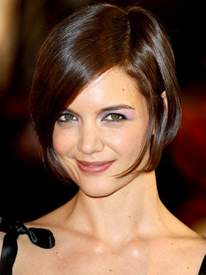 short hair with side bangs and layers. Katie Holmes#39;s Short Bob