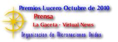 Premio Lucero a Mejor Prensa Octubre de 2010