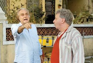 Arnaldo Jabor e Marco Nanini em A Suprema Felicidade