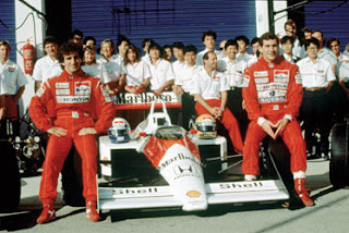 Alain Prost e Ayrton Senna