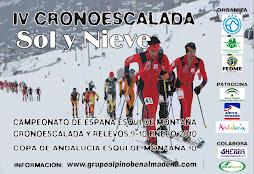 CARTEL CAMPEONATO DE ESPAÑA ESQUÍ DE MONTAÑA 2010