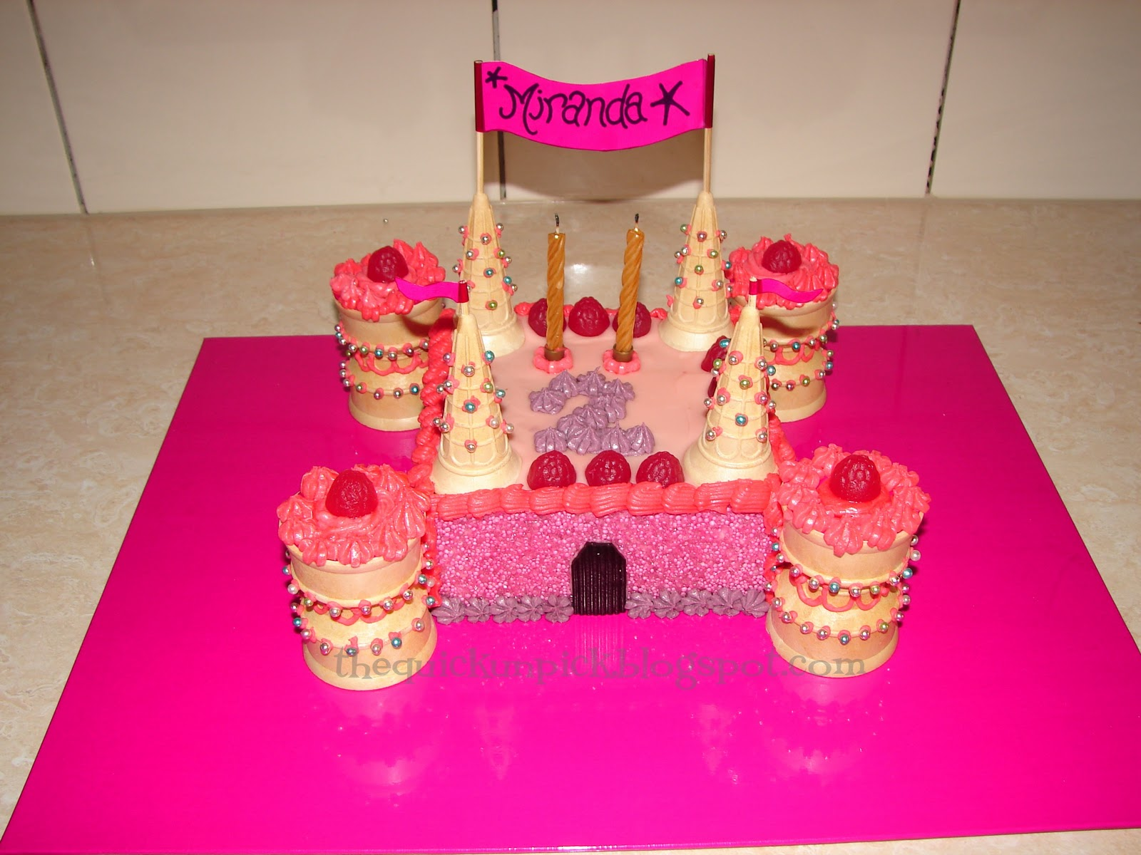 The Quick Unpick Beautiful Birthday Cakes Princesses a castle