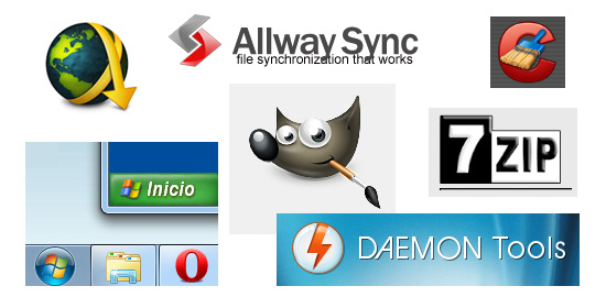 CCleaner JDownloader XP Mode Daemon Tools Lite GIMP Allway Sync 7-Zip