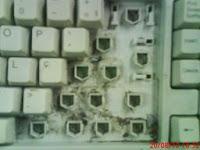 teclado sujo