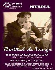 Recital de Tango: SERGIO LOGIOCO (CANTAUTOR ARGENTINO)