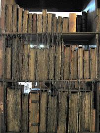 Colección de libros raros en la catedral de Hereford. England.