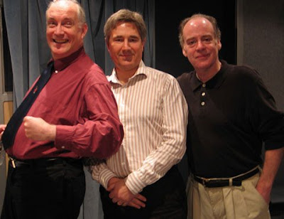 Simon Jones, Geoffrey Perkins and Geoffrey McGivern at the recording of The HitchHiker's Guide To The Galaxy - Quandary Phase
