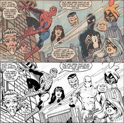 Above: Amazing Spider-Man Annual #18 (Marvel US), below: Spider-Man #611 (Marvel UK)