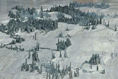 Фрагмент работы Питера Рута. Мегаполис с высоты птичьего полета. Фото креатив.