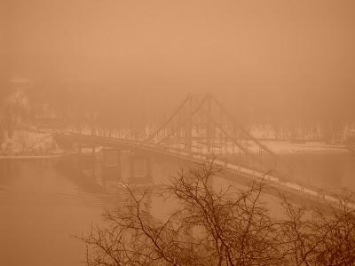 Туман над рекой.