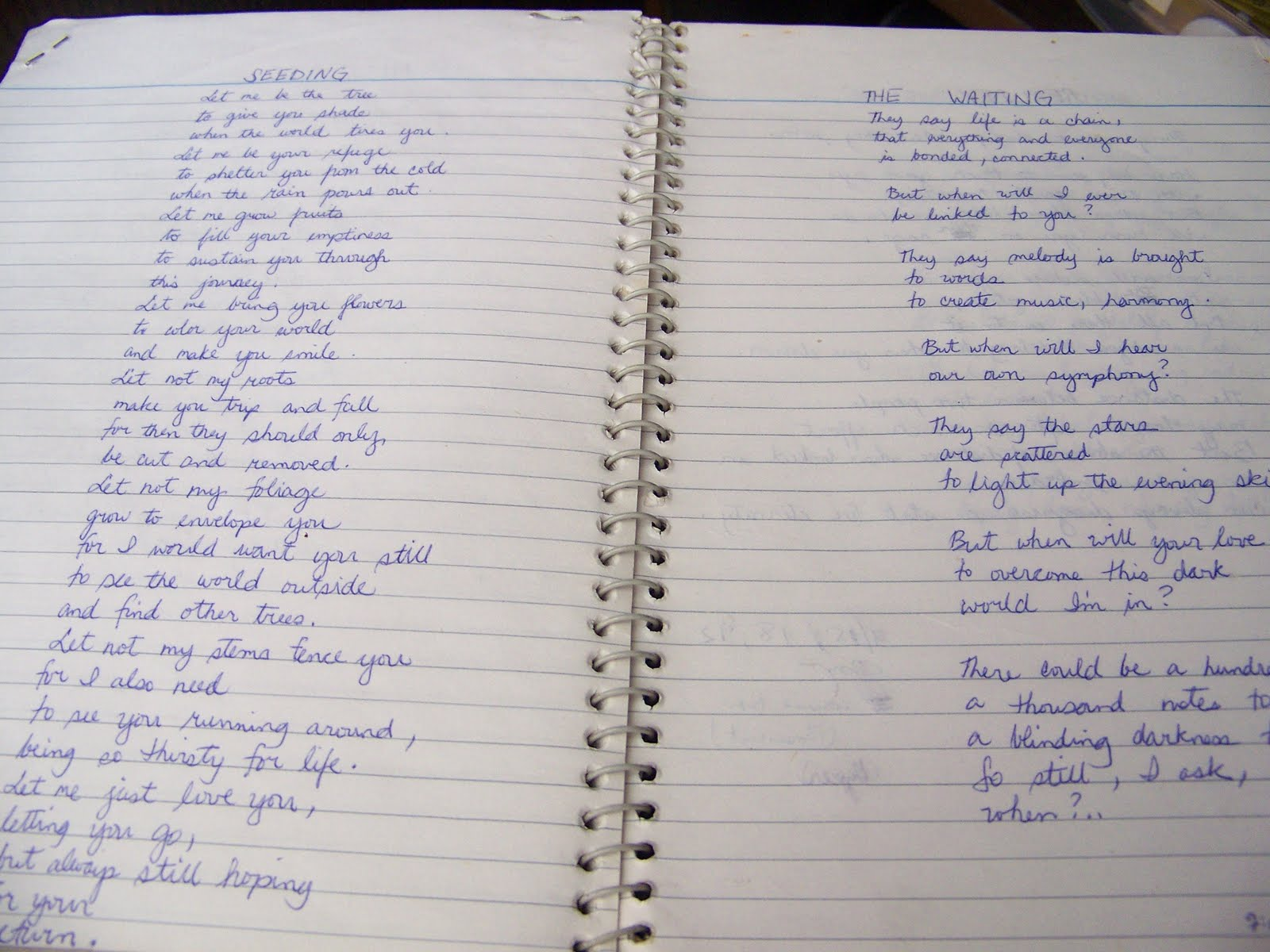 catharsis flashback younger sentimental me some of the pages look more yellowish than when i last saw them and my handwriting was obviously so much better during those days