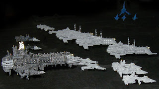 The Arcadian Fleet flies to battle