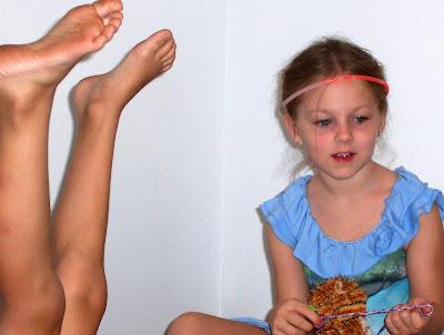 Harry's feet and Katelyn
