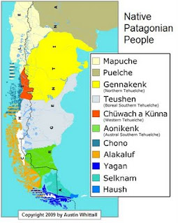 Patagonian Natives Map