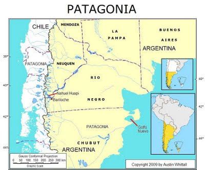 location Patagonia map