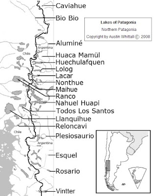 Austin Whittall Map Patagonia Lakes