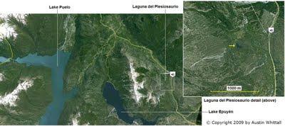 Laguna del Plesiosaurio map
