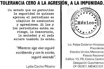 Tolerancia cero a la agresión