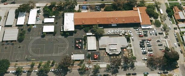 Rosewood Avenue Elementary School from the satellite