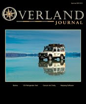 New Mexico Backroads featured in Summer 2010 Issue of Overland Journal