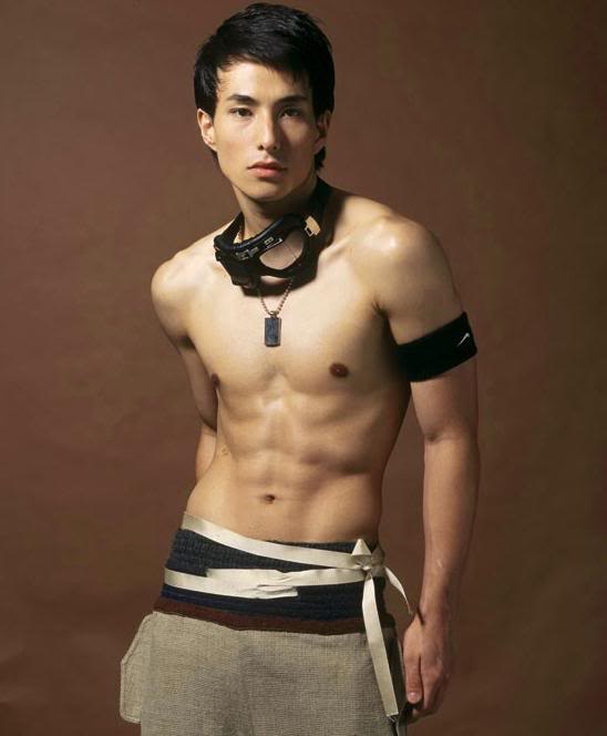 Asian male underware model