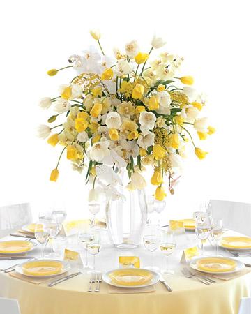 Flower centerpieces are great because they enhance the atmosphere in a