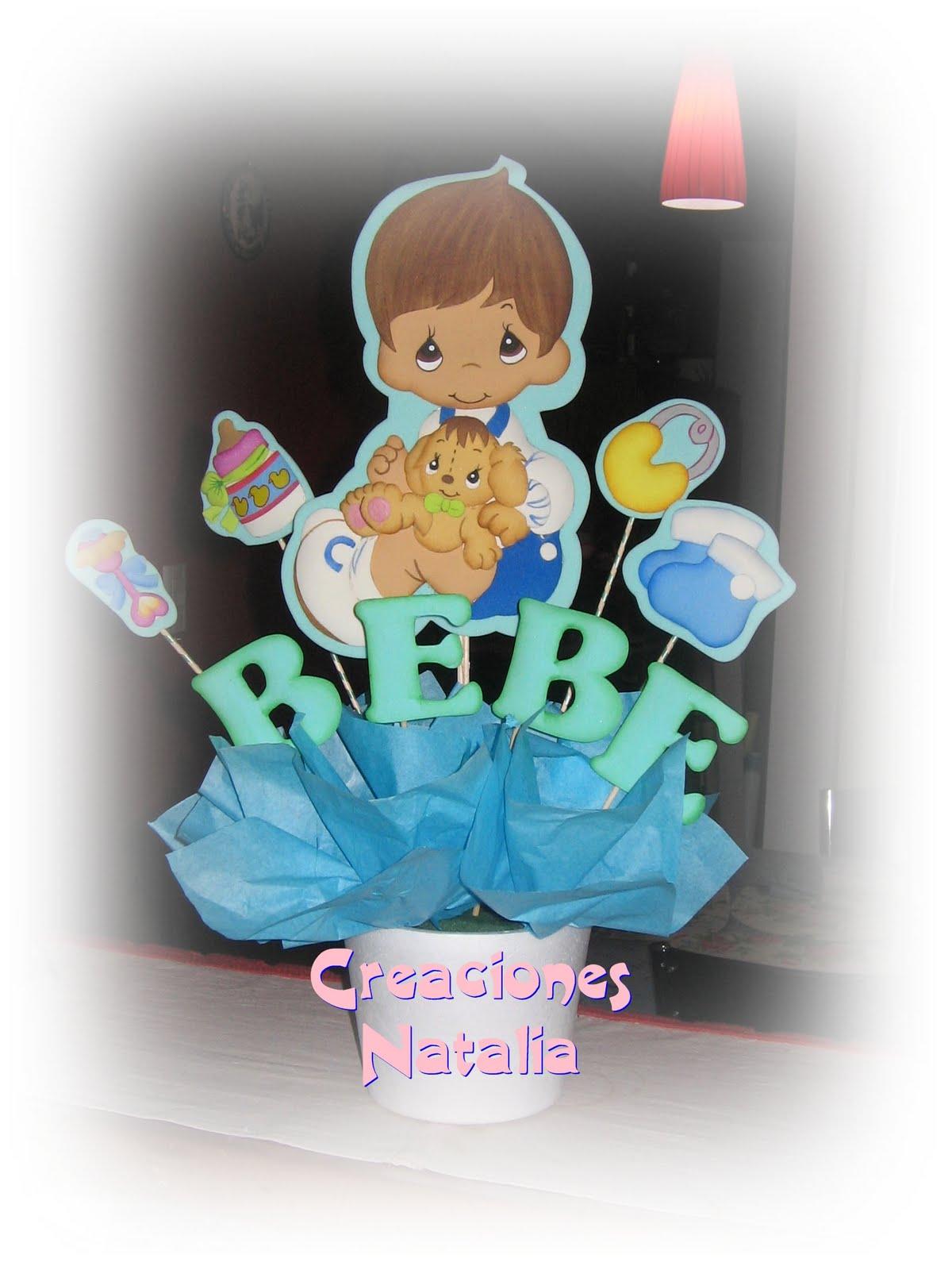 """Creaciones Natalia Centros de Mesa """"Baby Shower"""""""