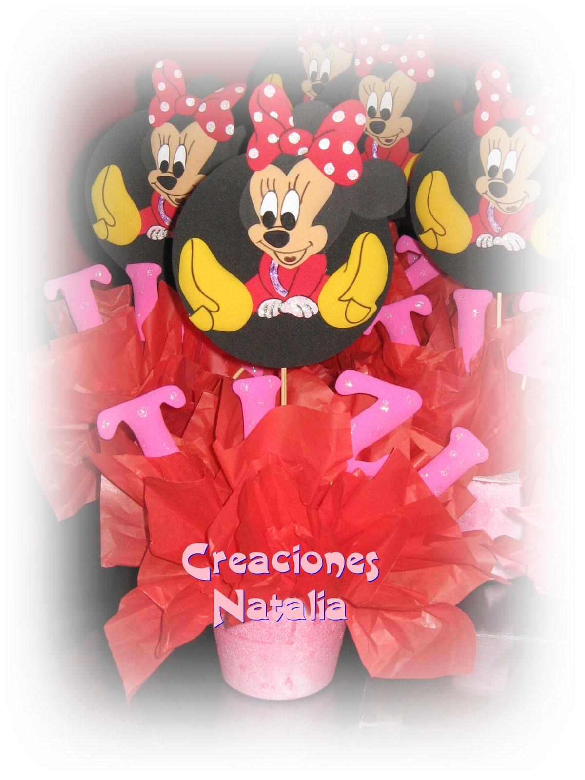 Creaciones Natalia: Centros de Mesa Minnie