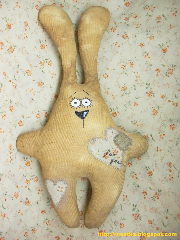 Заяц своими руками из ткани фото