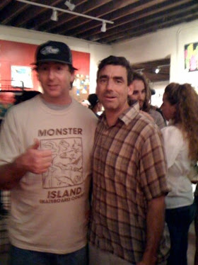 last years Griptape art show me and Lance Mountain