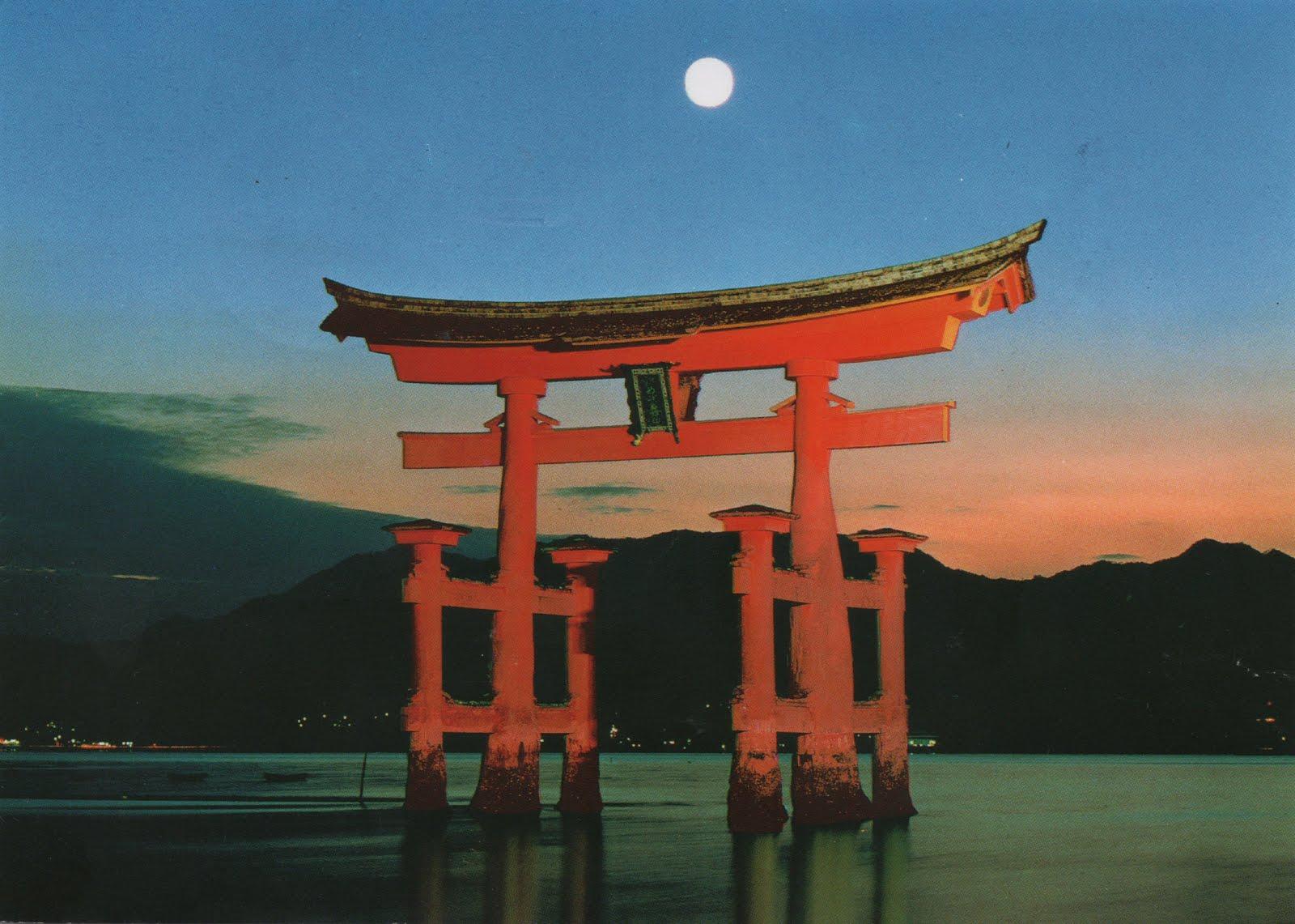 Gersyko postcards: JAPAN - Great Torii of Itsukushima Shrine