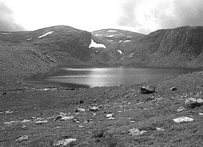 Tarn in the foothills of the mountain of Ben MacDhui.