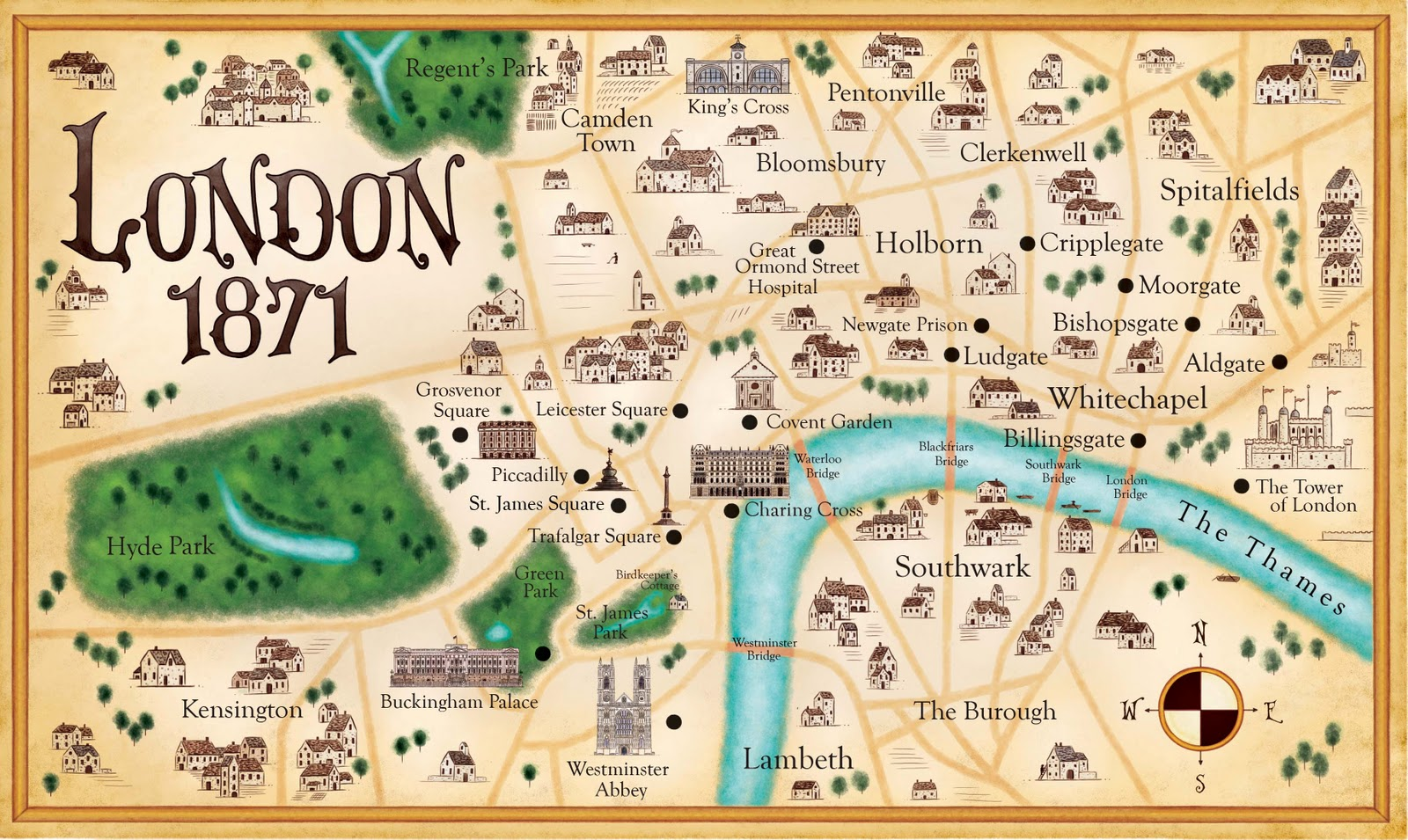The Faerie Ring MapLondon 1871 – Map London