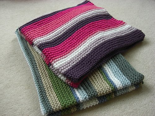 Girl Purl And Two Knitting Needles Fibonnacci Striped Baby Blankets
