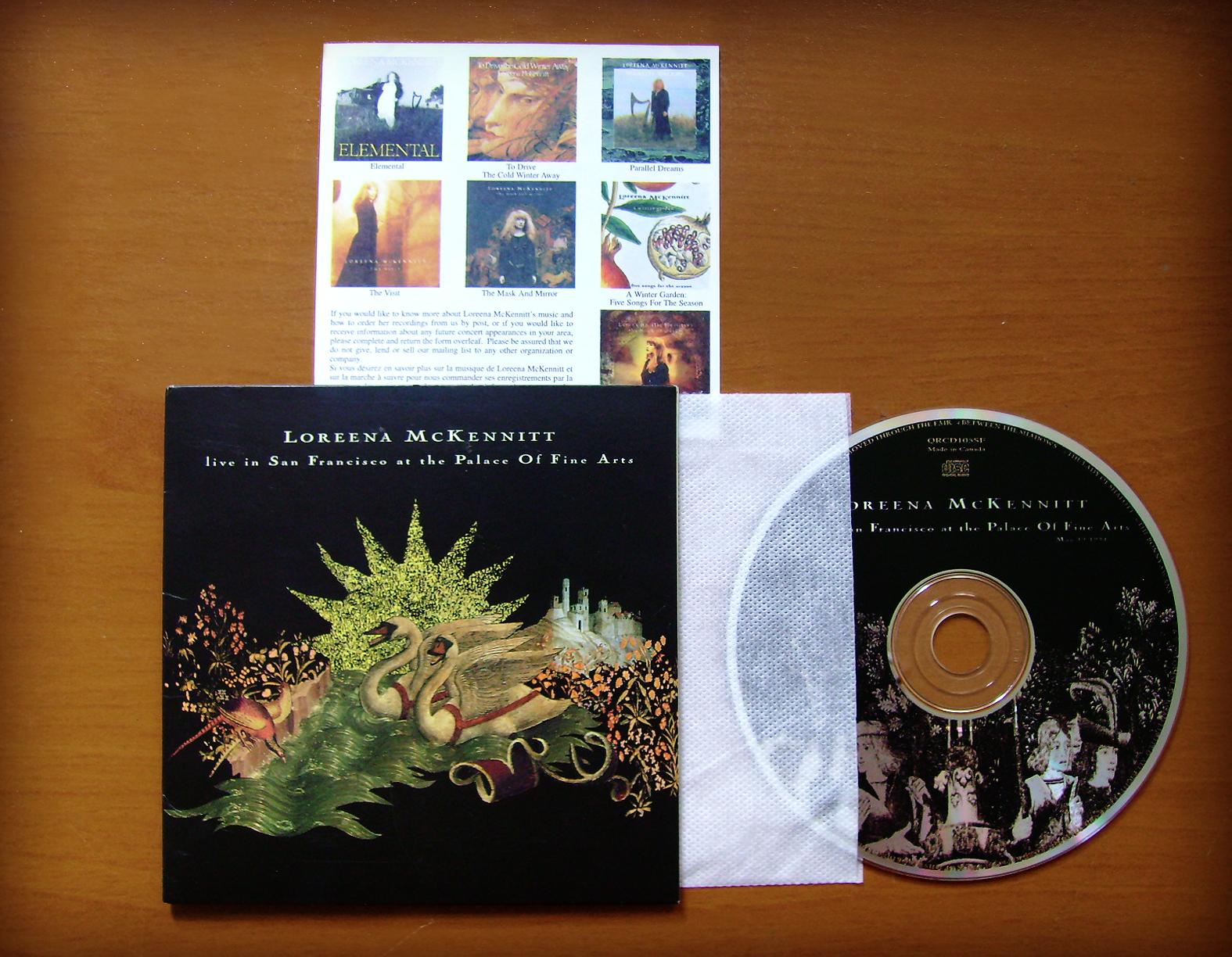 loreena mckennitt collection 1994 live in san francisco at the