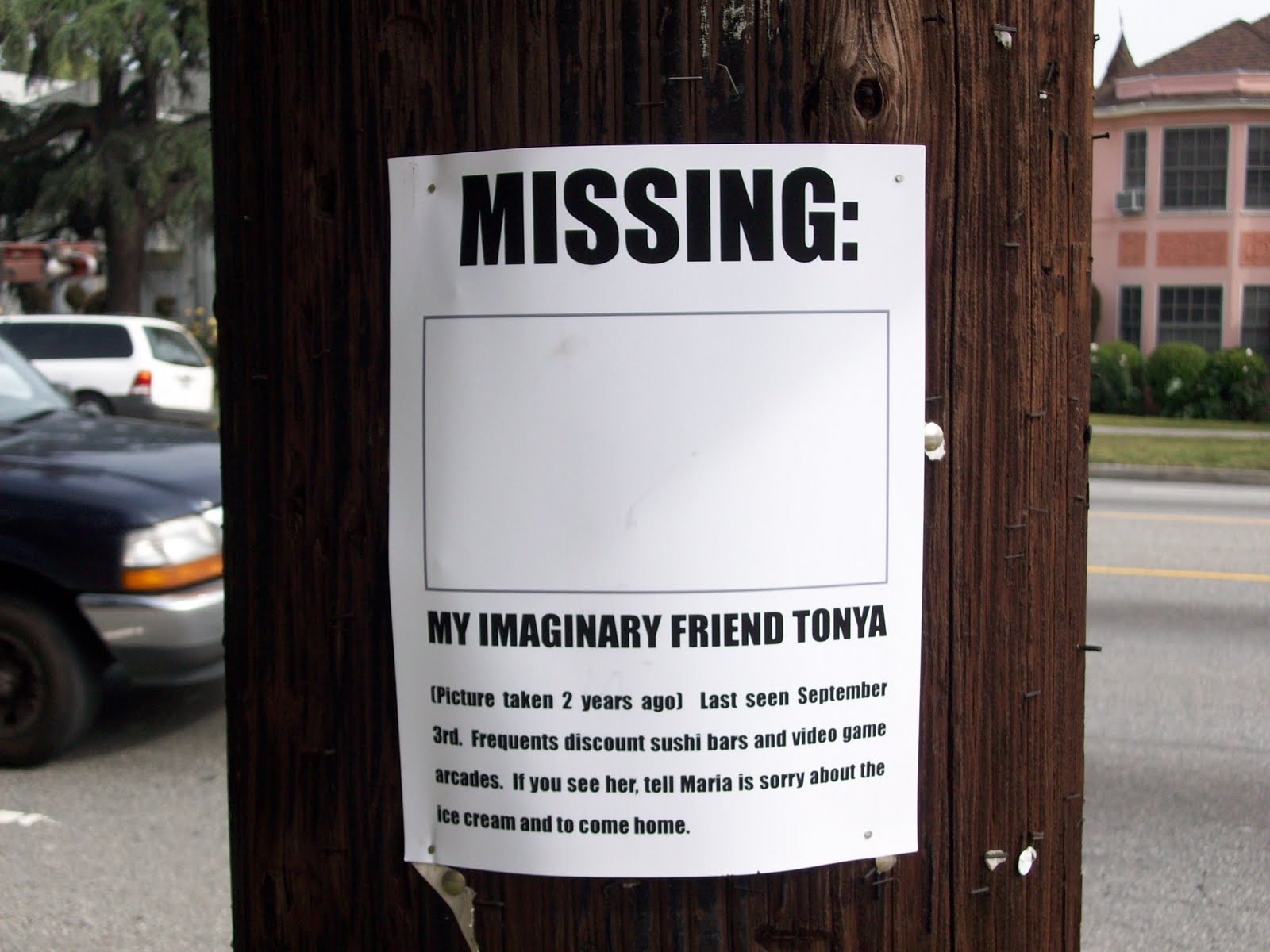 missing sign template