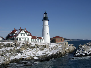 Portland Head Lighthouse - winter