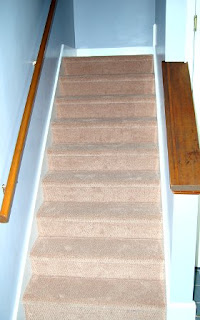Back stairs, new carpet