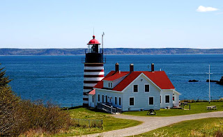 West Quoddy Head Lighthouse, overlooking Quoddy Narrows