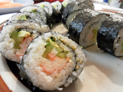 Sushi — Unagi Rolls and California Rolls