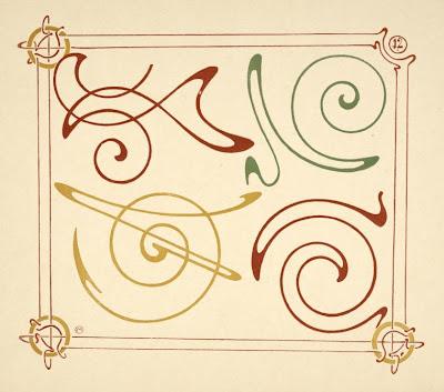 Art Nouveau Design Elements. Illustration: Design work