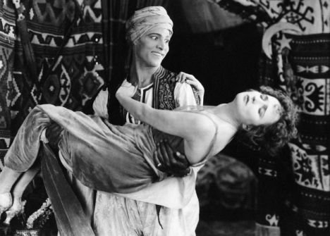 The Sheik, 1921, starring Rudolph Valentino, Agnes Ayers (Paramount). From the novel by E. Hull