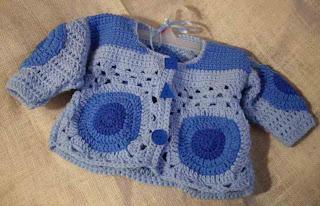 baby crochet nostalgic cardi pattern