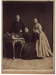5.001.Carl Gregers Schack med sine søstre Marie og Julie Schack i 1868