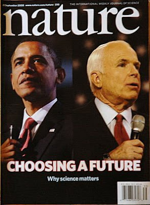 Obama and McCain on Nature cover