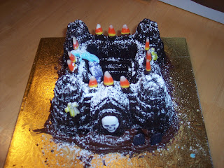 haunted castle cake